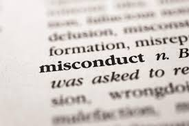 What constitutes misconduct?