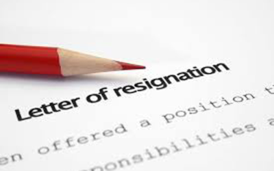Can an employee resign by e-mail or SMS?
