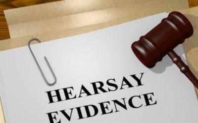Hearsay evidence can render dismissals unfair